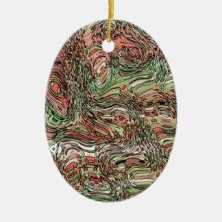 Abstract D v4 Ceramic Ornament