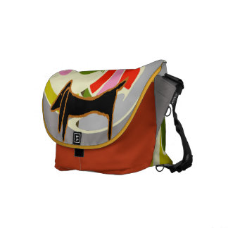 Abstract Dachshund Courier Bag