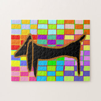 Abstract Dachshund Jig Saw Jigsaw Puzzles
