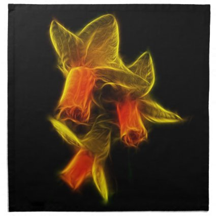 Abstract Daffodil Flowers Napkin