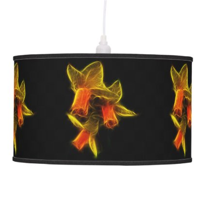 Abstract Daffodil Flowers Pendant Lamps