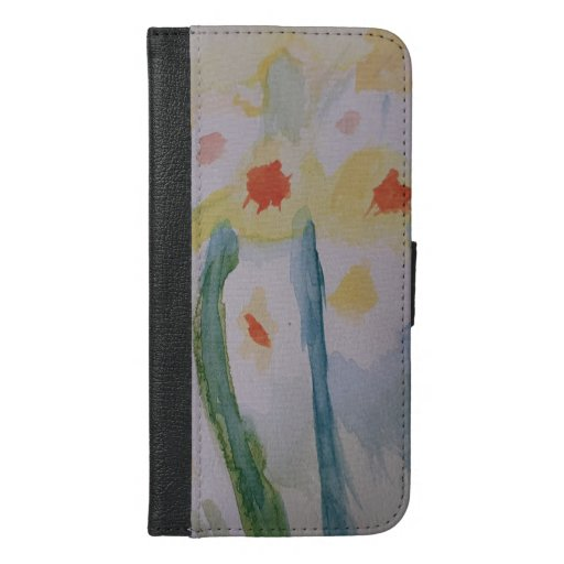 Abstract Daffodils iPhone Wallet Case