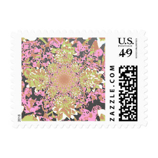 Abstract Dahlia Flower Painting Postage