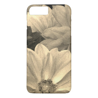 Abstract Dahlia Garden Flowers iPhone 7 Plus Case