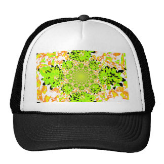 Abstract Dahlia Multi Colored Trucker Hat