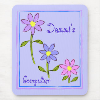 Abstract Daisies Personalized Mouse Pad