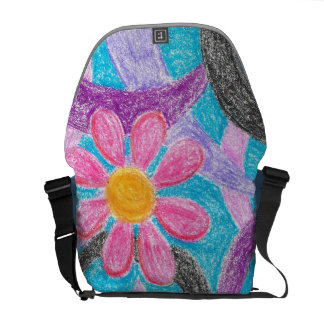 Abstract Daisy Messenger Bag