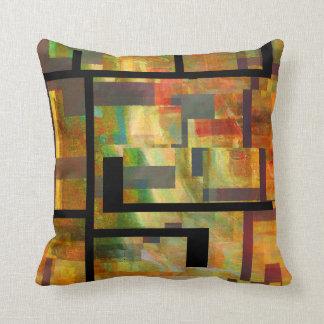 Abstract Dam Series Throw Pillow