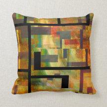 Abstract Dam Series Throw Pillows