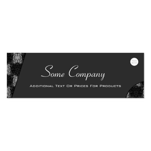 Abstract Damask (Black And White) Business Card Template