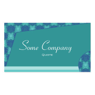 Abstract Damask (Ocean View) Double-Sided Standard Business Cards (Pack Of 100)