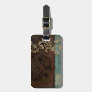 Abstract Damask Tapestry by Jennifer Goldberger Bag Tag
