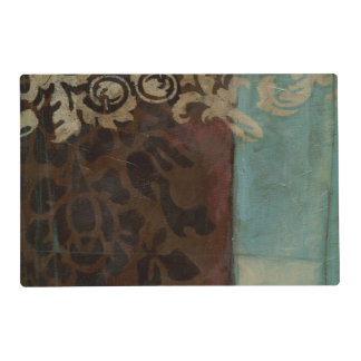 Abstract Damask Tapestry by Jennifer Goldberger Laminated Placemat