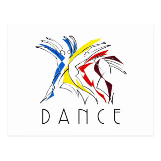Abstract Dancers Dancing - Dance Lover Artwork Postcard