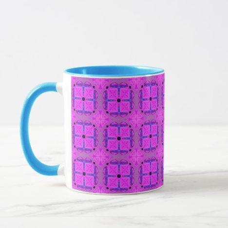 Abstract Dancing Diamonds Purple Violet Mug