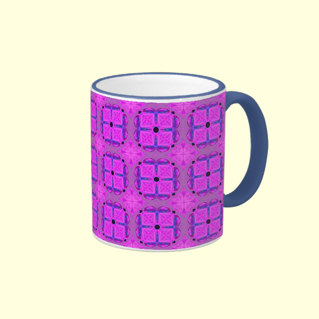 Abstract Dancing Diamonds Purple Violet Mug