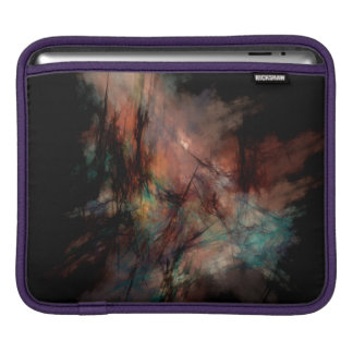 Abstract Dark Black And Blue Patter Sleeve For iPads