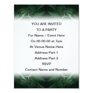 Abstract, Dark Green Fractal Pattern. Card
