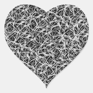 abstract dark grey energetic pattern heart sticker