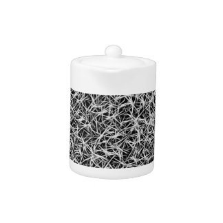abstract dark grey energetic pattern teapot