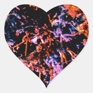 Abstract Dark Rainbow Heart Sticker