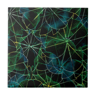 Abstract Dark Shapes Tile