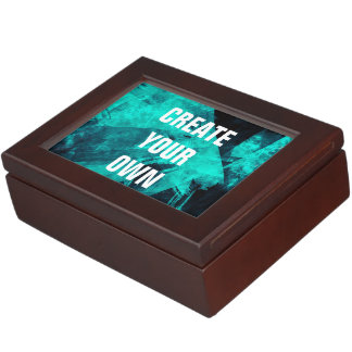 Abstract Dark Turquoise Paint Modern Elegant Memory Box