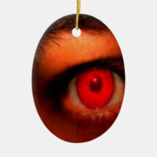 Abstract Dark Vampire Eye Ceramic Ornament