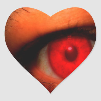Abstract Dark Vampire Eye Heart Sticker