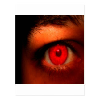 Abstract Dark Vampire Eye Postcard