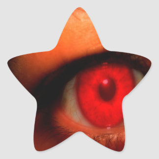 Abstract Dark Vampire Eye Star Sticker