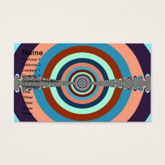 Abstract Dart Board Business Card
