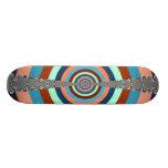 Abstract Dart Board Skateboard