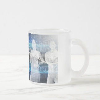 Abstract Data of Population and Key Demographic Frosted Glass Coffee Mug