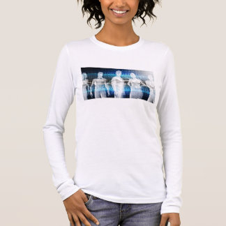 Abstract Data of Population and Key Demographic Long Sleeve T-Shirt