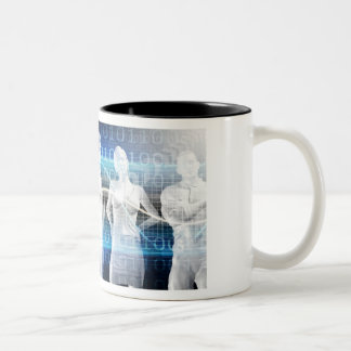 Abstract Data of Population and Key Demographic Two-Tone Coffee Mug