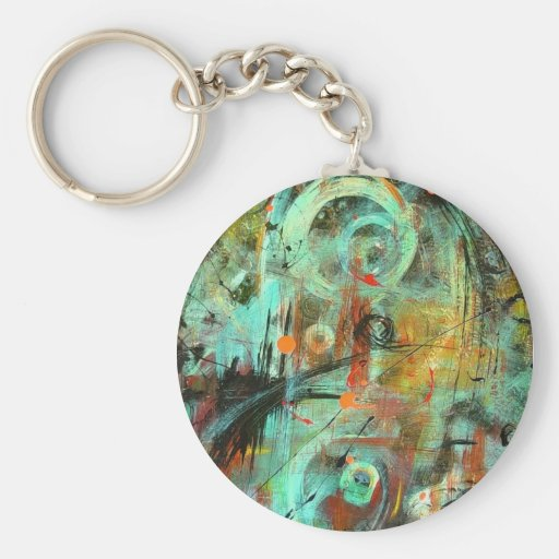 Abstract Day Energy Keychain