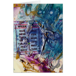 Abstract Days Card