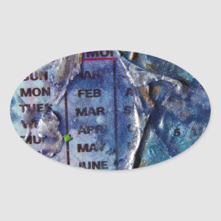 Abstract Days Oval Sticker