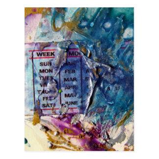 Abstract Days Postcard