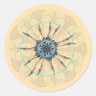 Abstract Deconstructed Peacock Mandala Sticker