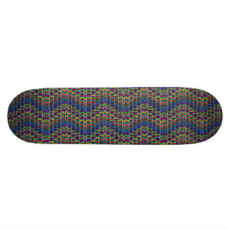Abstract Decorative Ornamental Geometric Lin Skateboard Deck