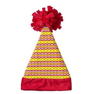 Abstract decorative pattern santa hat