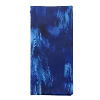 Abstract Deep Blue Ocean Waves Cloth Napkin