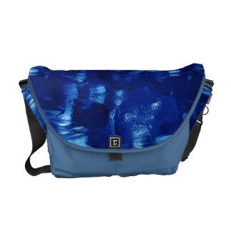 Abstract Deep Blue Ocean Waves Courier Bag