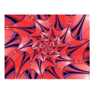 Abstract deep pink postcard