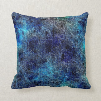 Abstract Deep Rich Jewel Colors Blue Throw Pillow