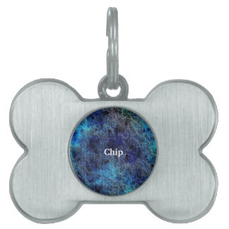 Abstract Deep Rich Jewel Colors Pet Tag