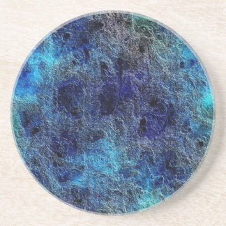 Abstract Deep Rich Jewel Colors Sandstone Coaster