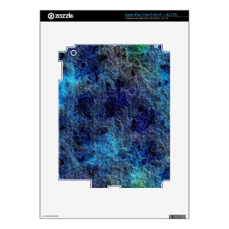 Abstract Deep Rich Jewel Colors Decal For iPad 3